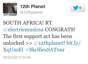 12th Planet SA Confirmation